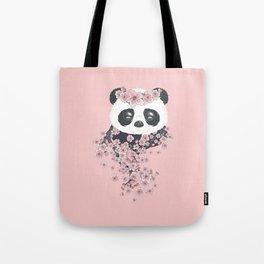 Panda face and Sakura Tote Bag