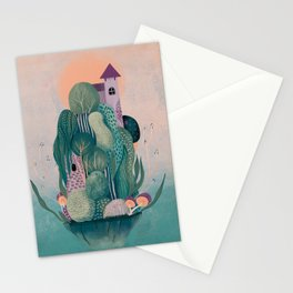 Floating dragon's home Stationery Cards