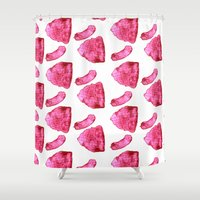meat Shower Curtains featuring Meat by XiaBoiii