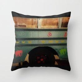Lotus Bus Upclose Throw Pillow