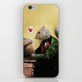 Mr. Squirrel Loves His Acorn! iPhone Skin