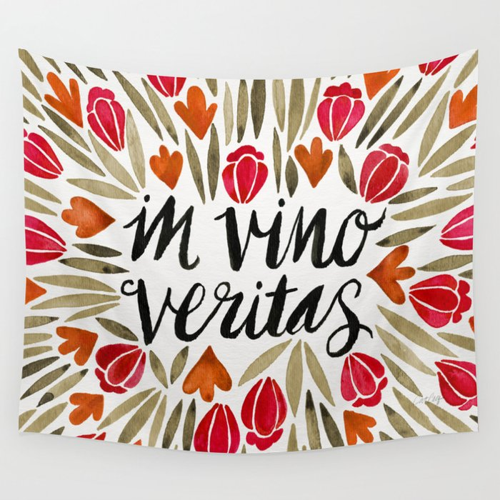 In Wine, There is Truth – Red Wall Tapestry