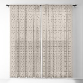 Pure Gold Heart Sheer Curtain
