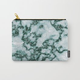 Teal Green Marbled Pattern Carry-All Pouch