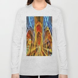 Bath Abbey Sun Rays Van Gogh Long Sleeve T-shirt