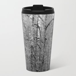 Olympic Rainforest - B&W Travel Mug