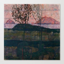 "Egon Schiele ""Setting Sun"" Canvas Print"