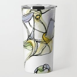 Freehand Abstract Crystal Structure Illustration Travel Mug