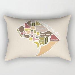 orange washington dc map Rectangular Pillow