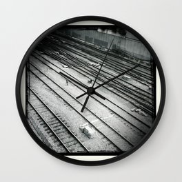 tracks Wall Clock