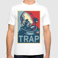 TRAP White Mens Fitted Tee SMALL