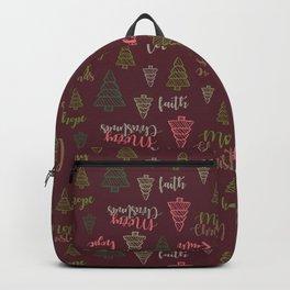 Christmas Tree Pattern BD GR Backpack