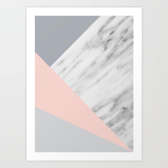Scandi Collage Art Print