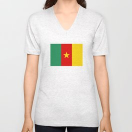 Cameroon country flag Unisex V-Neck