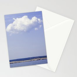 Single Cloud Over Adriatic Sea Stationery Cards