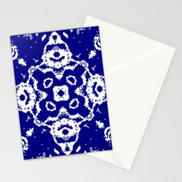 CA Fantasy Deep Blue-White series #4 Stationery Cards