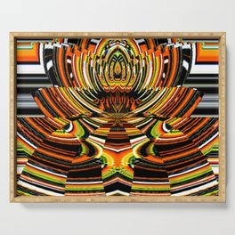 American Indian Art Abstract Serving Tray