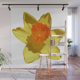 Spring Daffodil Vector Isolated Wall Mural