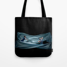 Dancing in rough blue waters Tote Bag