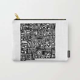 Typographic New Mexico Carry-All Pouch