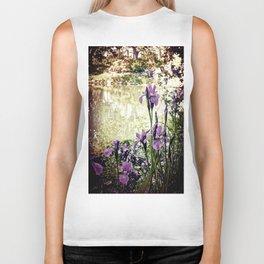 Purple Irises Biker Tank