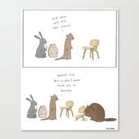 tim shumate Canvas Prints featuring Dammit, Tim  by Liz Climo