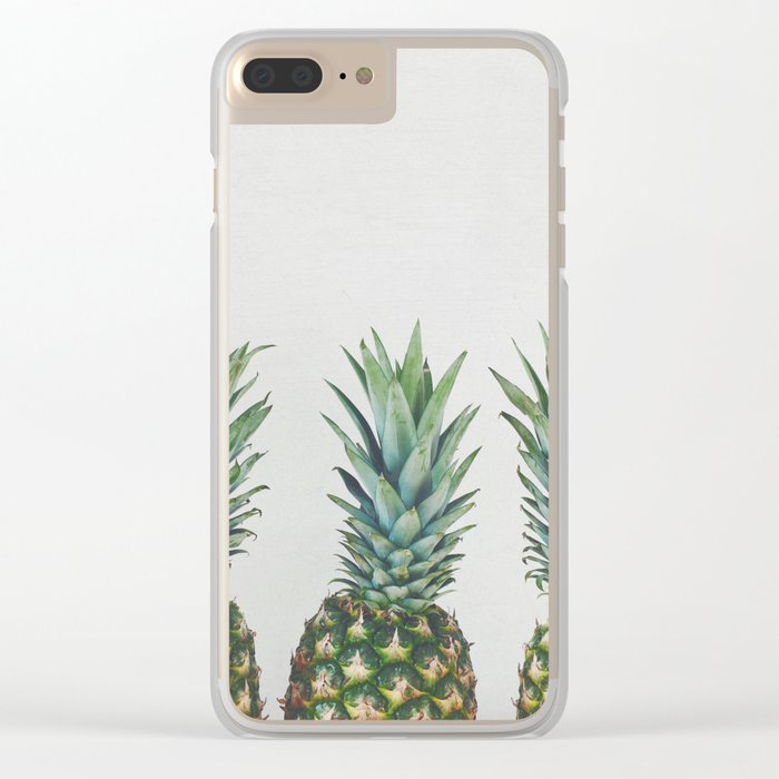 Pineapple Trio Clear iPhone Case