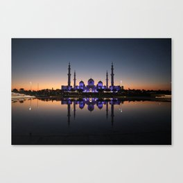 Night at the mosque Canvas Print
