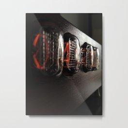 Nixie clock Metal Print