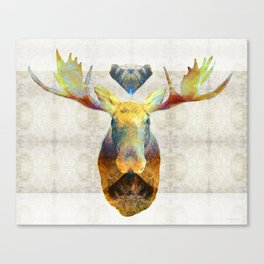 Mystic Moose Art by Sharon Cummings Canvas Print