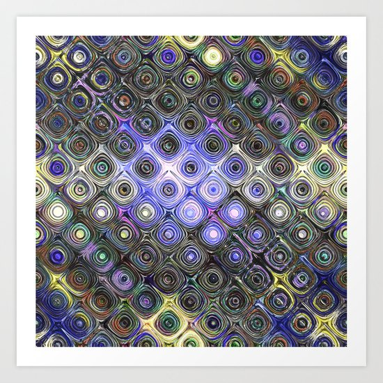 Digital Beads of Glass Art Print