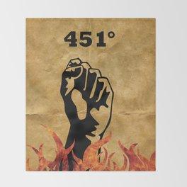 Fahrenheit 451 - Ray Bradbury Throw Blanket
