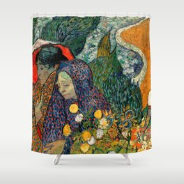 Memory of the Garden at Etten by Vincent van Gogh Shower Curtain