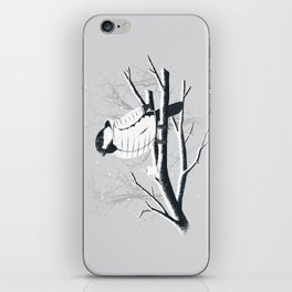 North For The Winter (Gray). iPhone Skin