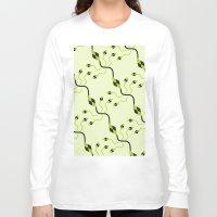 flower pattern Long Sleeve T-shirts featuring flower pattern by Azeez Olayinka Gloriousclick