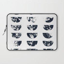 Josie Navy Blue Half Moon Abstract Laptop Sleeve
