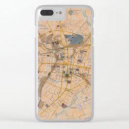 Vintage Map of Spartanburg SC (1922) Clear iPhone Case