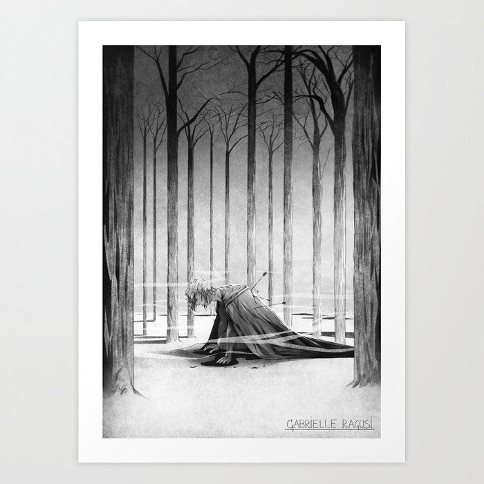 The fall of a kingdom Art Print