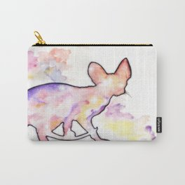 Pastel Space Sphynx Cat Carry-All Pouch