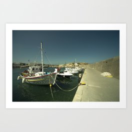 Hersonissos Harbour Art Print