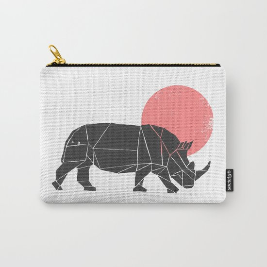 Geometric Rhino Carry-All Pouch