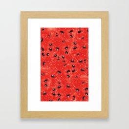 Watermelon Pattern Framed Art Print