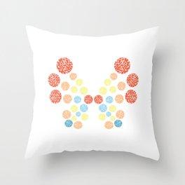 Vivillon Ocean Form Throw Pillow