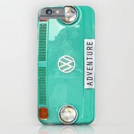 Adventure wolkswagen. Summer dreams. Green iPhone Case