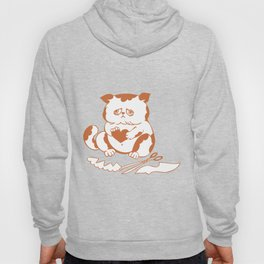 Valentine Sad Cat with Cut-Out Heart Hoody