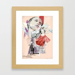 There are no children, there are people Framed Art Print