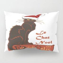 Le Chat Noel Christmas Vector Pillow Sham