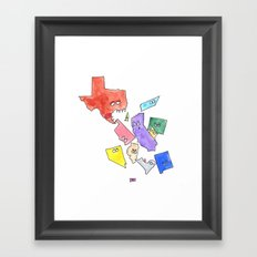 My State Can Eat Your State Framed Art Print