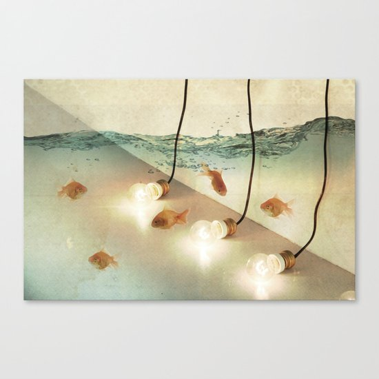 ideas and goldfish Canvas Print