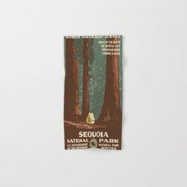 Vintage poster - Sequoia National ParkX Hand & Bath Towel
